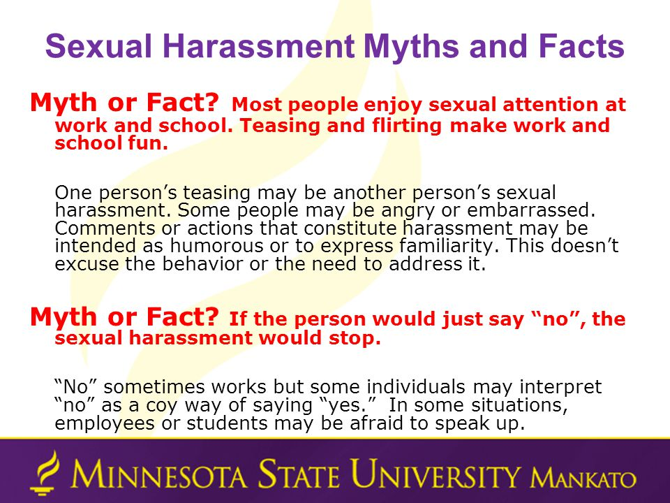 Sexual Harassment Myths and Facts