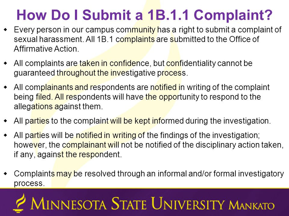 How Do I Submit a 1B.1.1 Complaint