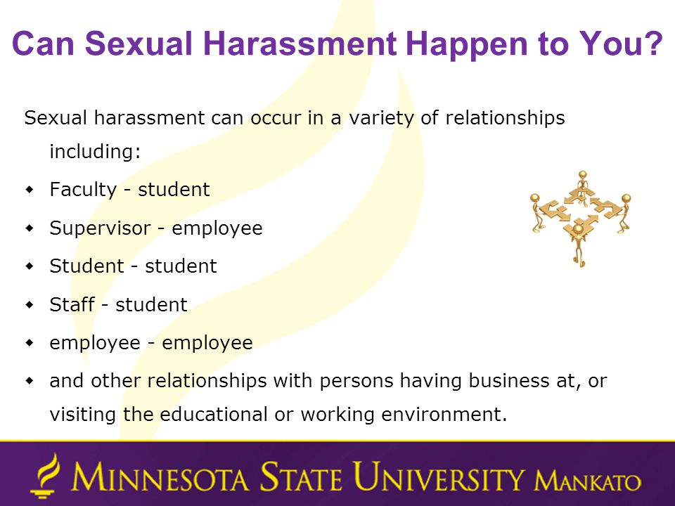 Can Sexual Harassment Happen to You