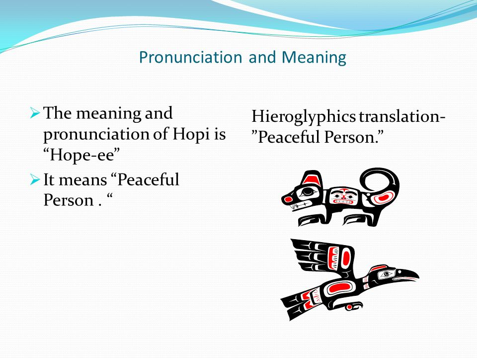 Pronunciation and Meaning