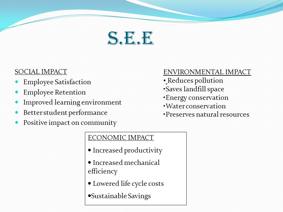 S.E.E SOCIAL IMPACT Employee Satisfaction Employee Retention