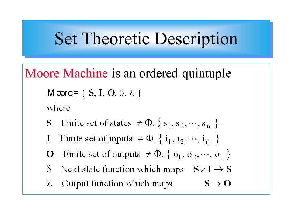 Set Theoretic Description