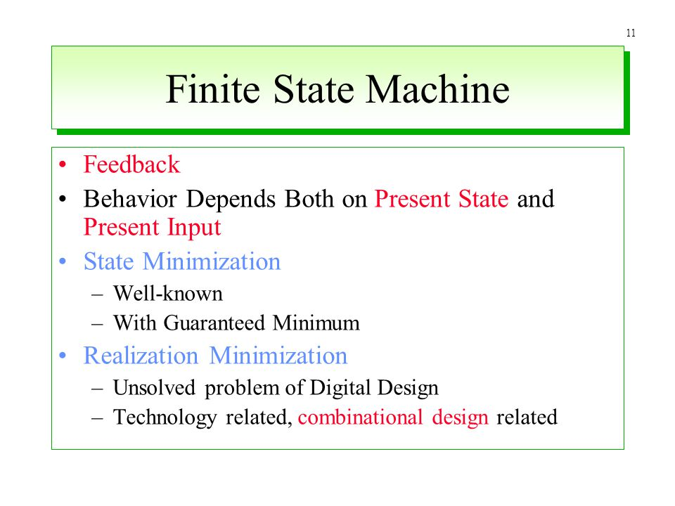Finite State Machine Feedback