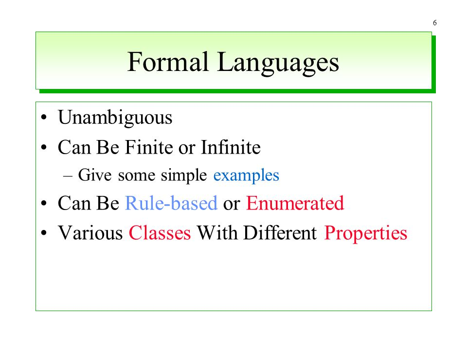 Formal Languages Unambiguous Can Be Finite or Infinite