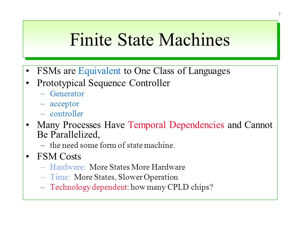 Finite State Machines FSMs are Equivalent to One Class of Languages