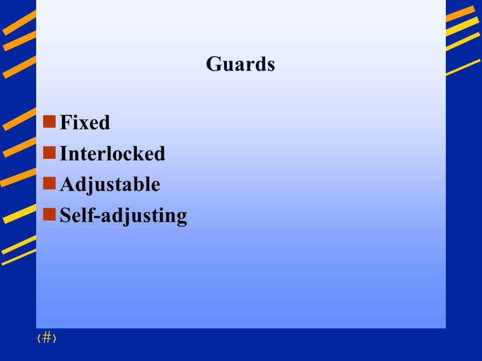 Guards Fixed Interlocked Adjustable Self-adjusting