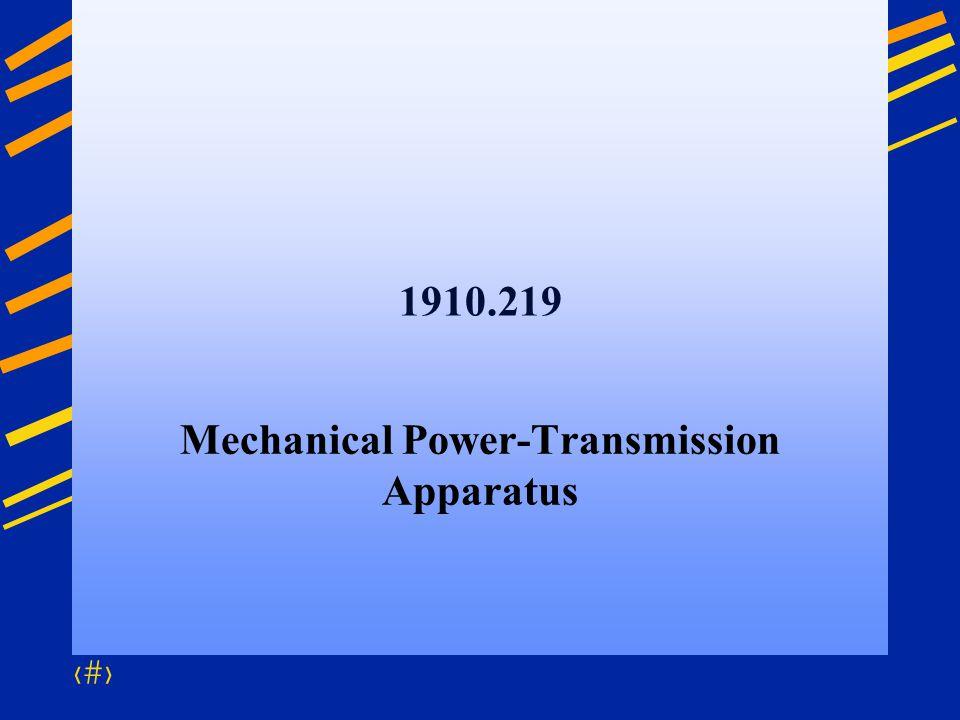 Mechanical Power-Transmission Apparatus