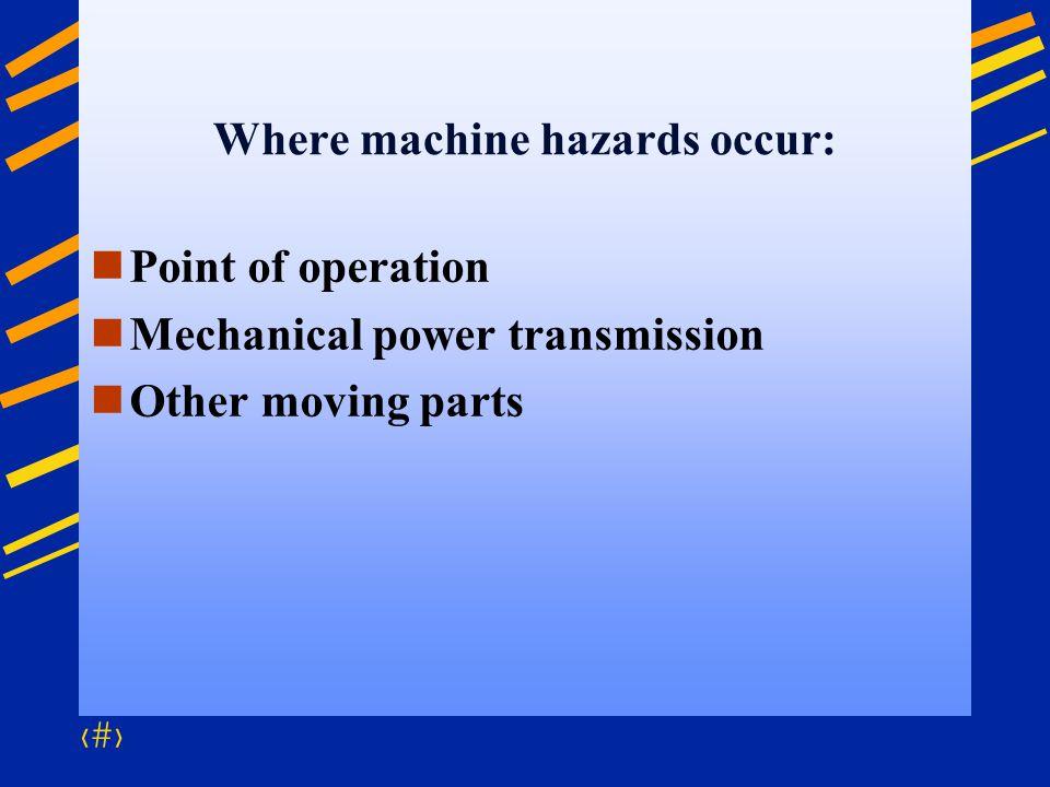 Where machine hazards occur: