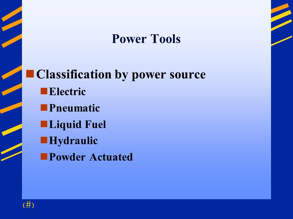 Classification by power source