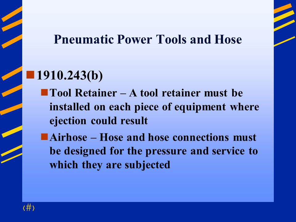 Pneumatic Power Tools and Hose