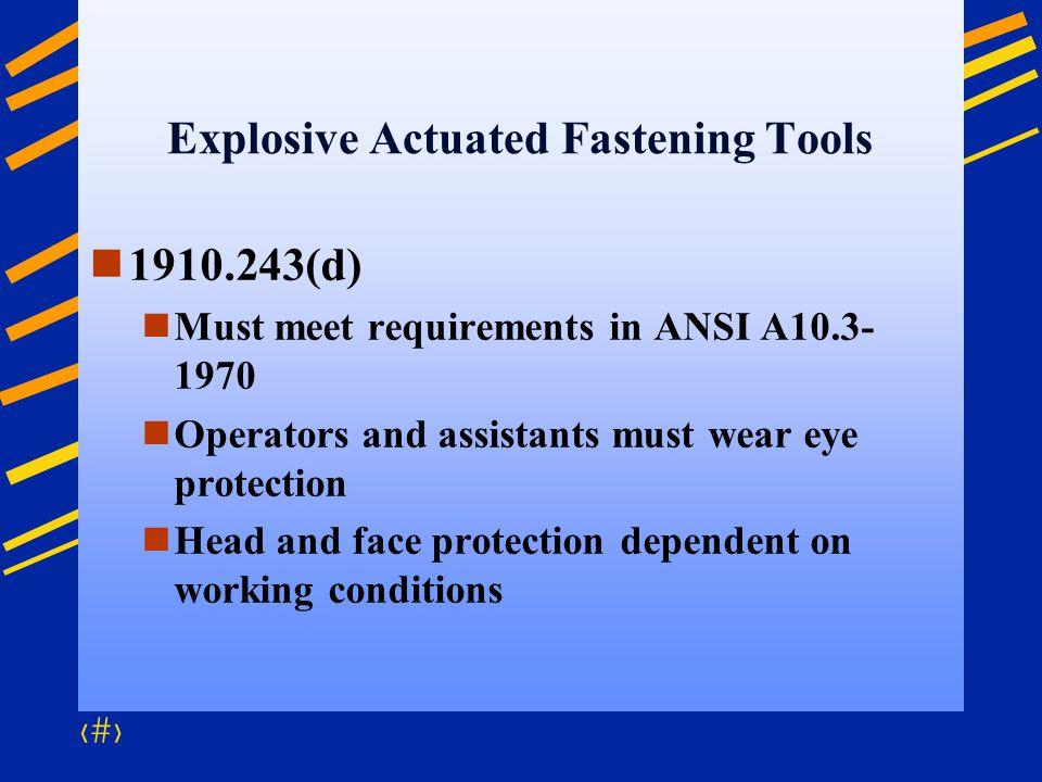 Explosive Actuated Fastening Tools