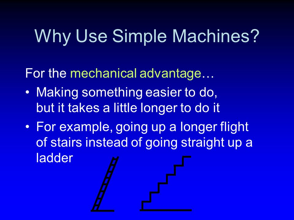Why Use Simple Machines