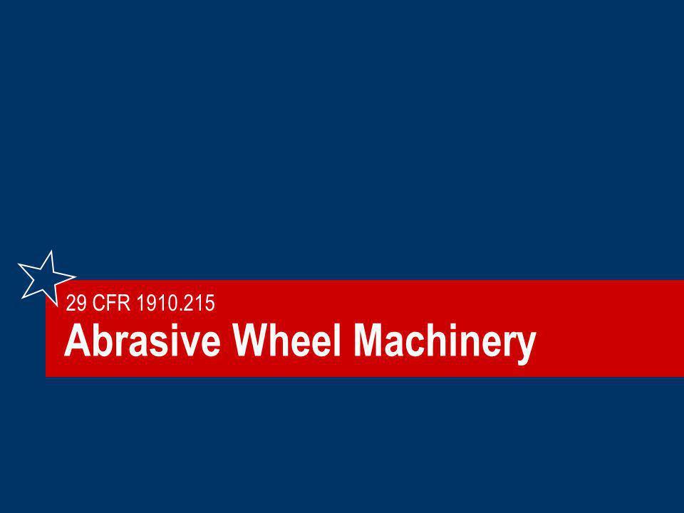Abrasive Wheel Machinery