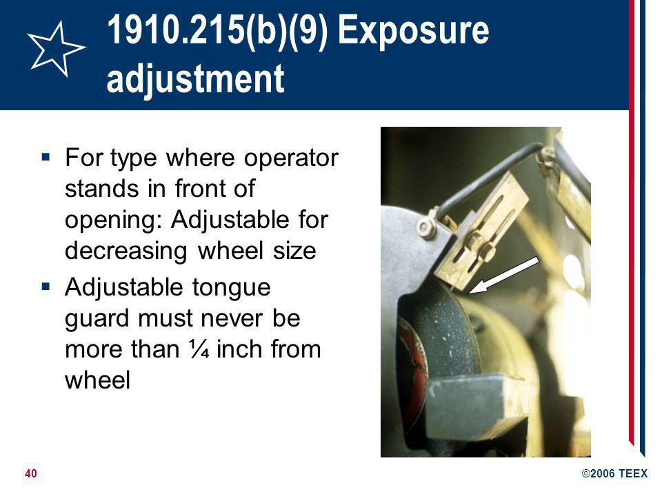 1910.215(b)(9) Exposure adjustment