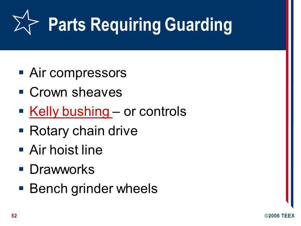 Parts Requiring Guarding