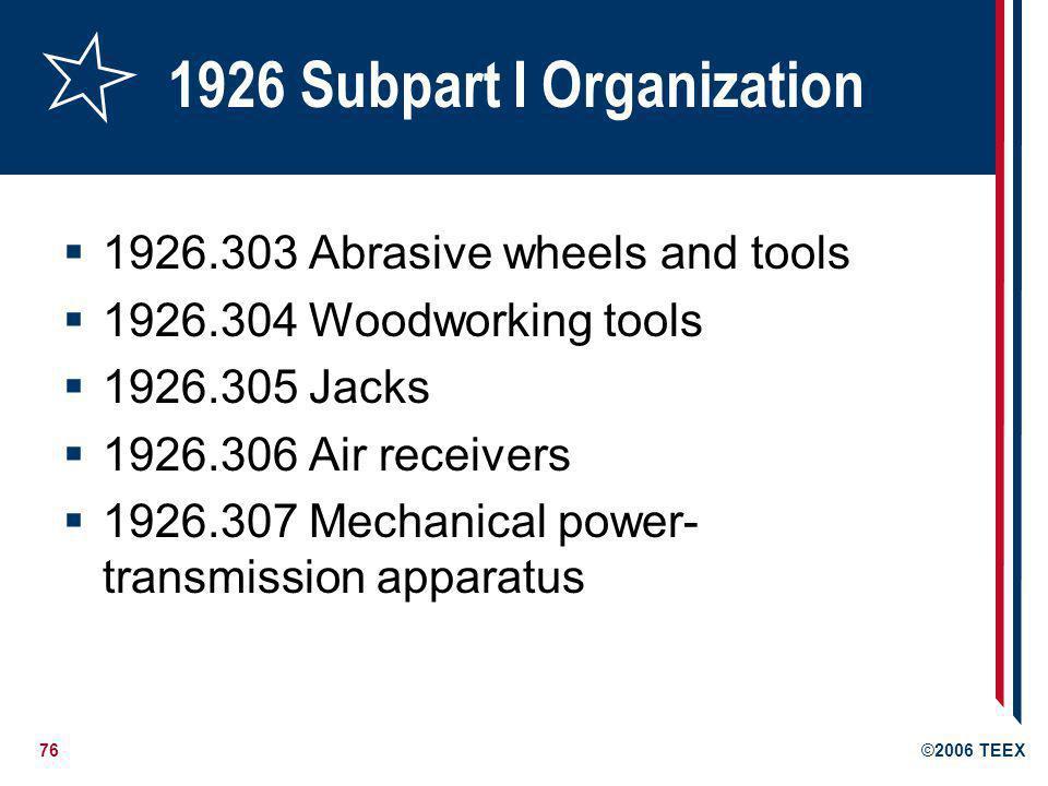 1926 Subpart I Organization