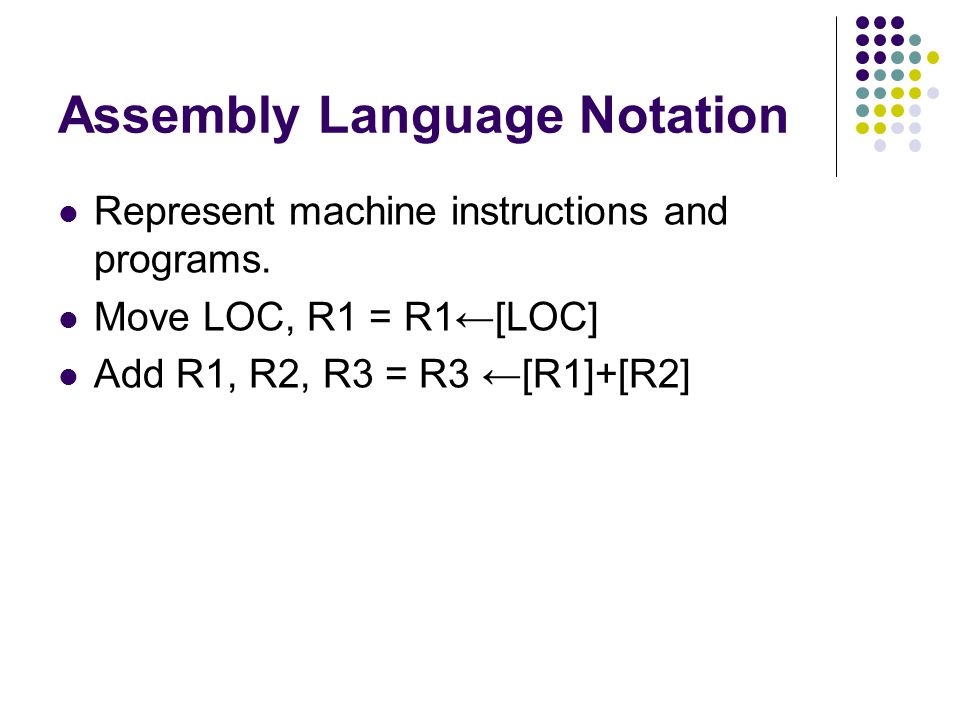 Assembly Language Notation