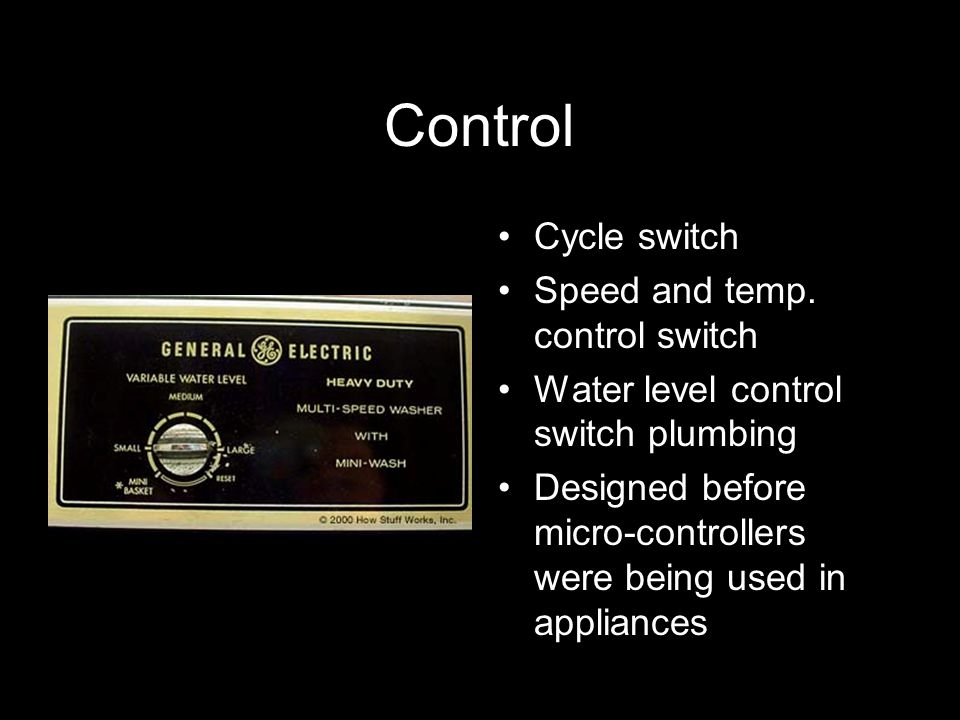 Control Cycle switch Speed and temp. control switch