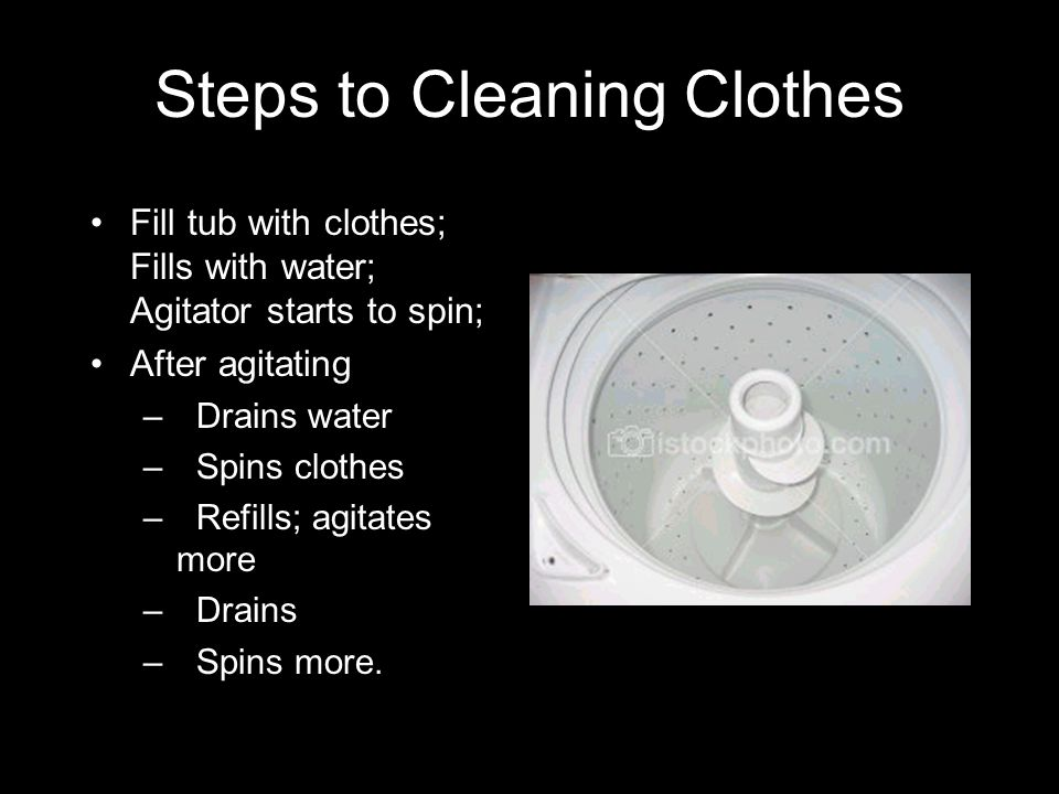 Steps to Cleaning Clothes