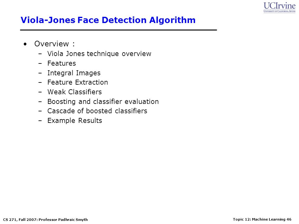 Viola-Jones Face Detection Algorithm