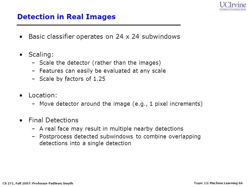 Detection in Real Images