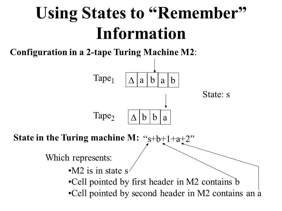 Using States to Remember Information