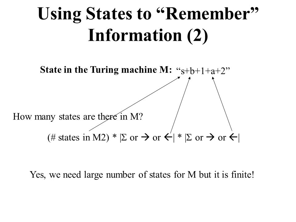 Using States to Remember Information (2)