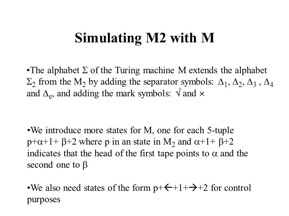 Simulating M2 with M