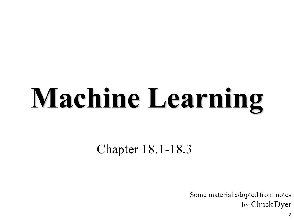 Machine Learning Chapter