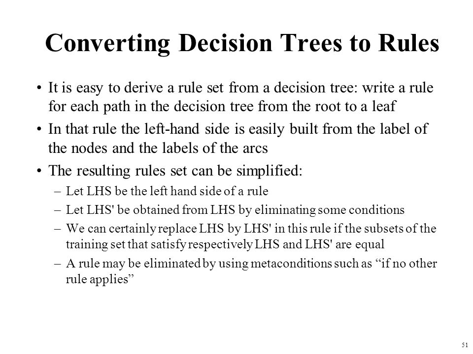 Converting Decision Trees to Rules