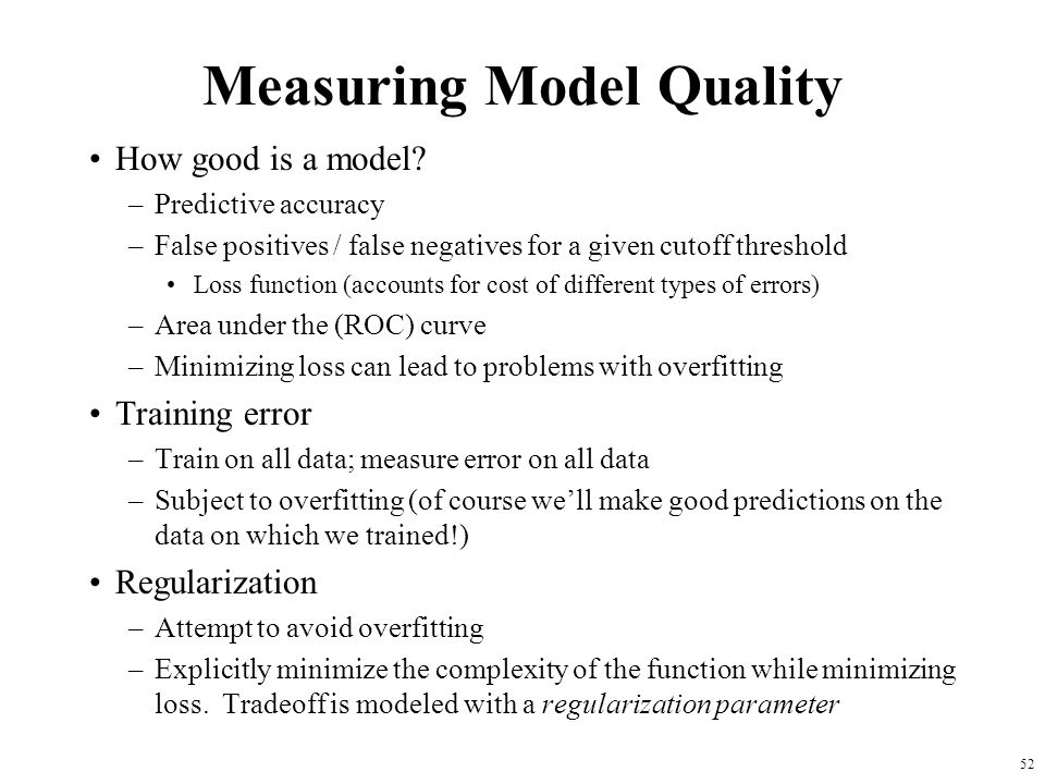 Measuring Model Quality