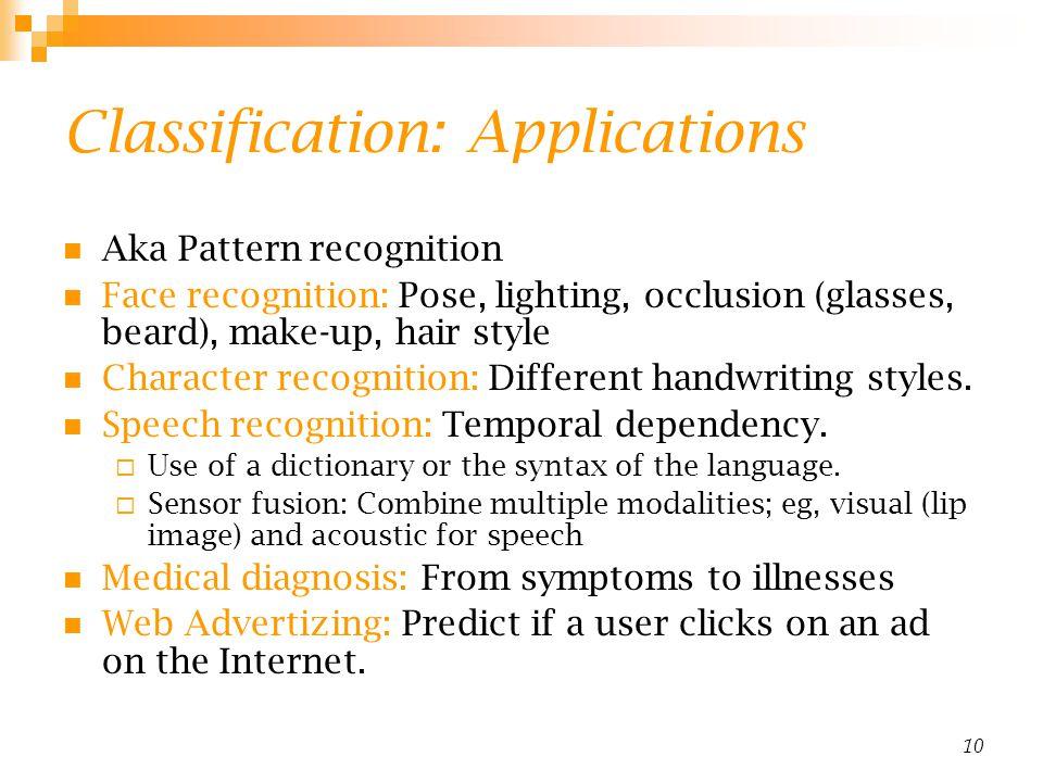 Classification: Applications