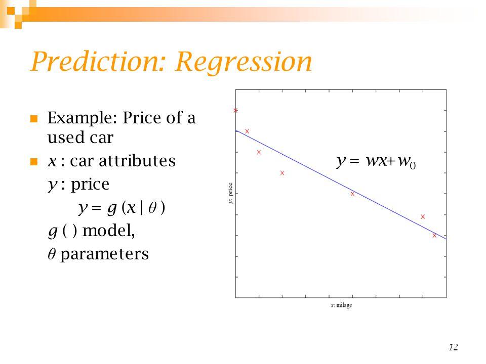 Prediction: Regression