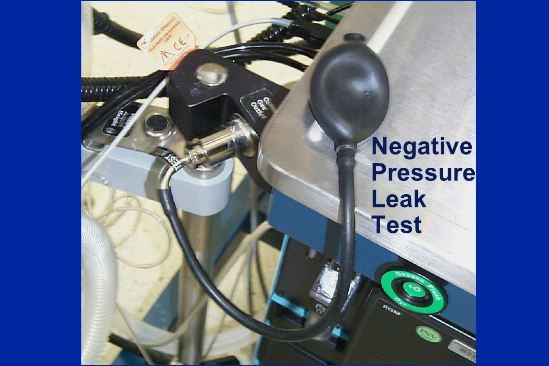 Negative Pressure Leak Test