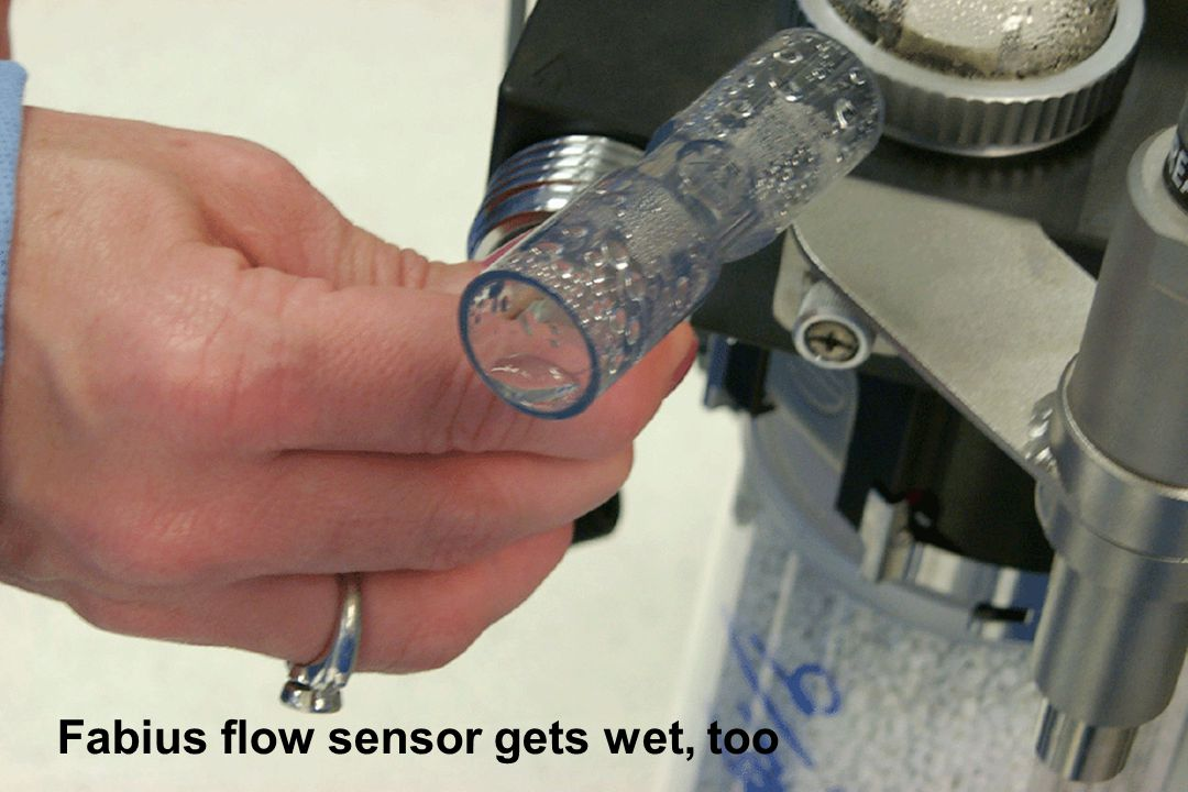 Fabius flow sensor gets wet, too