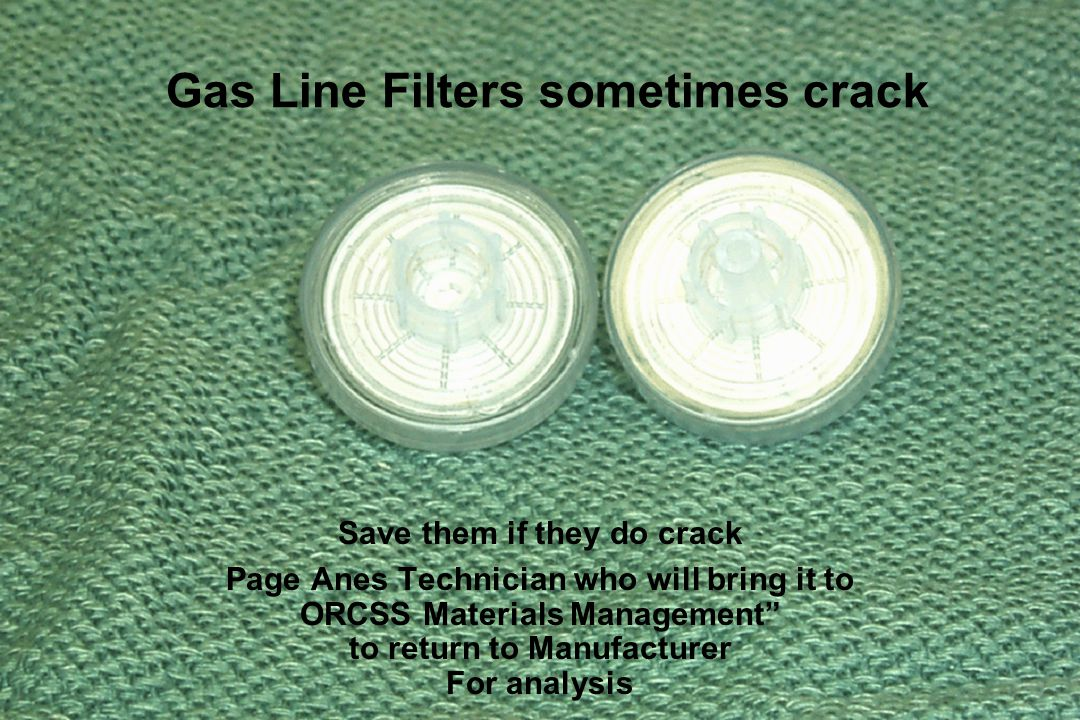 Gas Line Filters sometimes crack