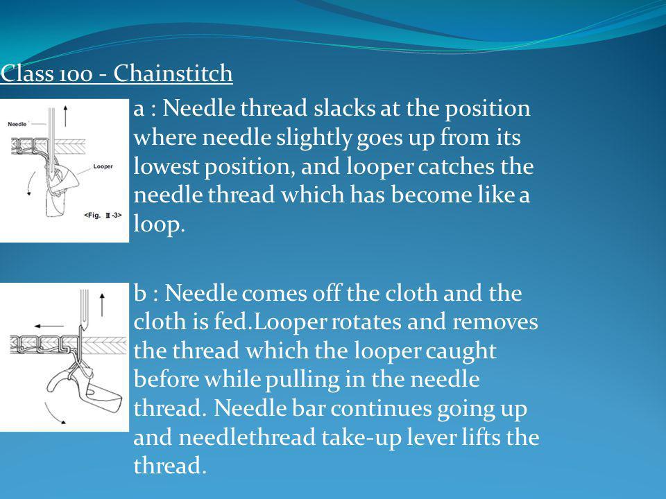 Class 100 - Chainstitch