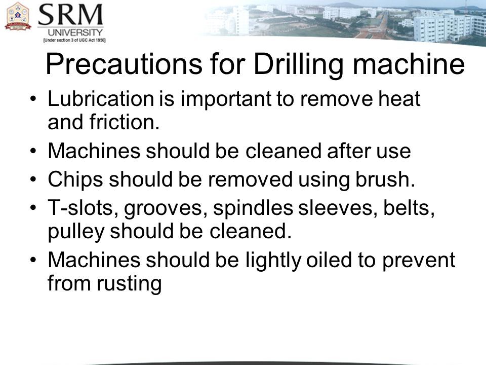 Precautions for Drilling machine