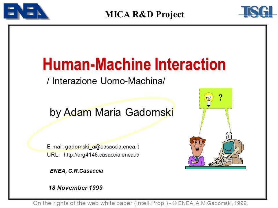Human-Machine Interaction