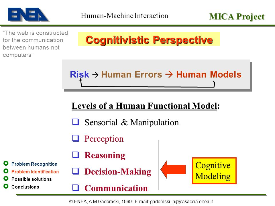 Cognitivistic Perspective