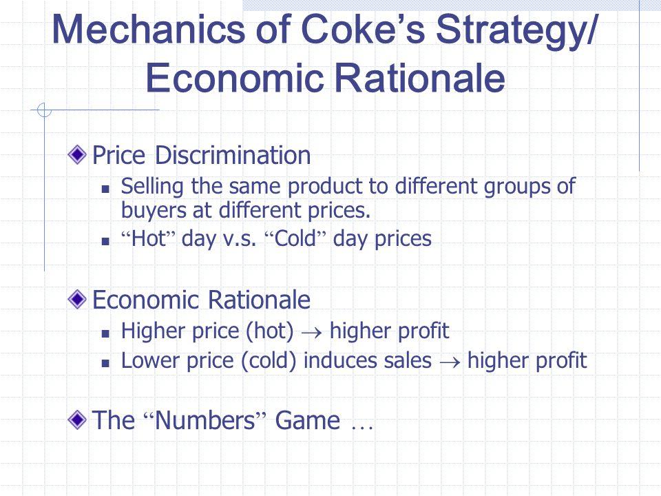 Mechanics of Coke's Strategy/ Economic Rationale