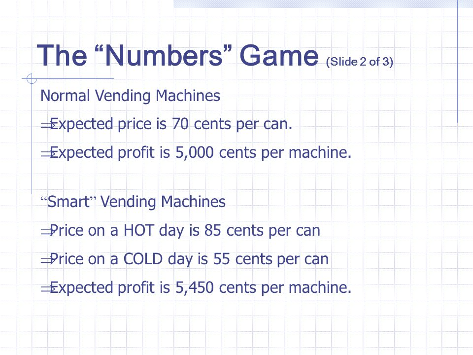 The Numbers Game (Slide 2 of 3)