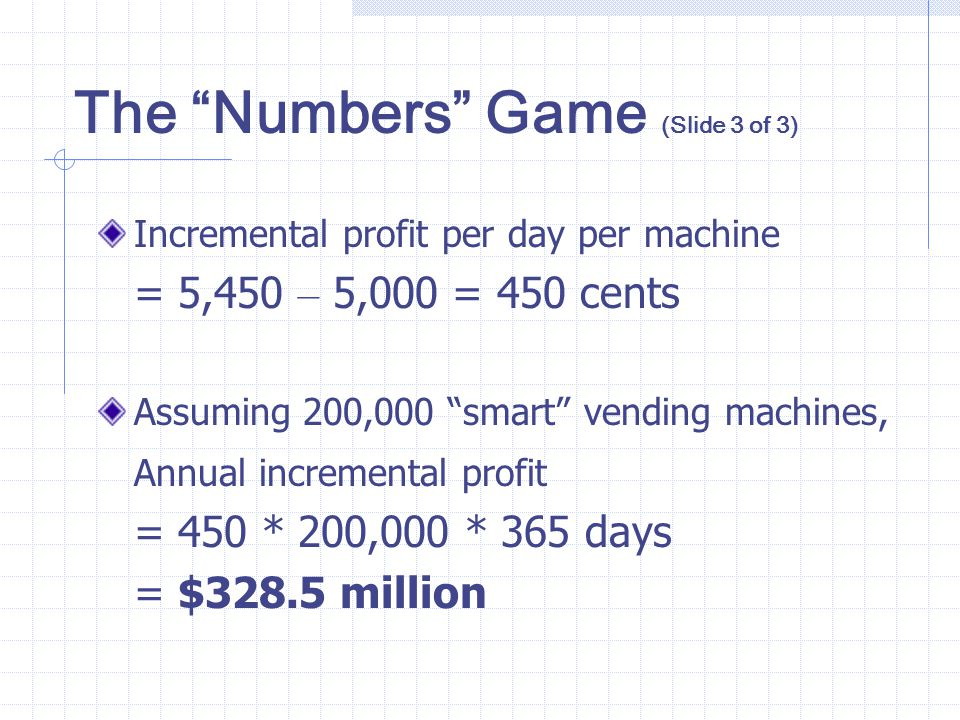 The Numbers Game (Slide 3 of 3)