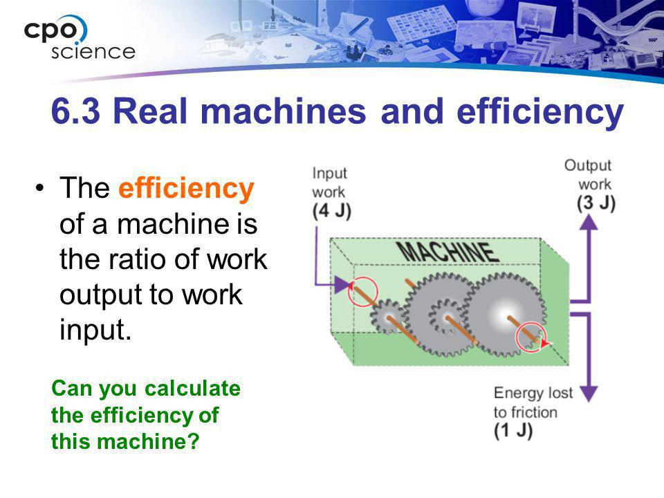6.3 Real machines and efficiency