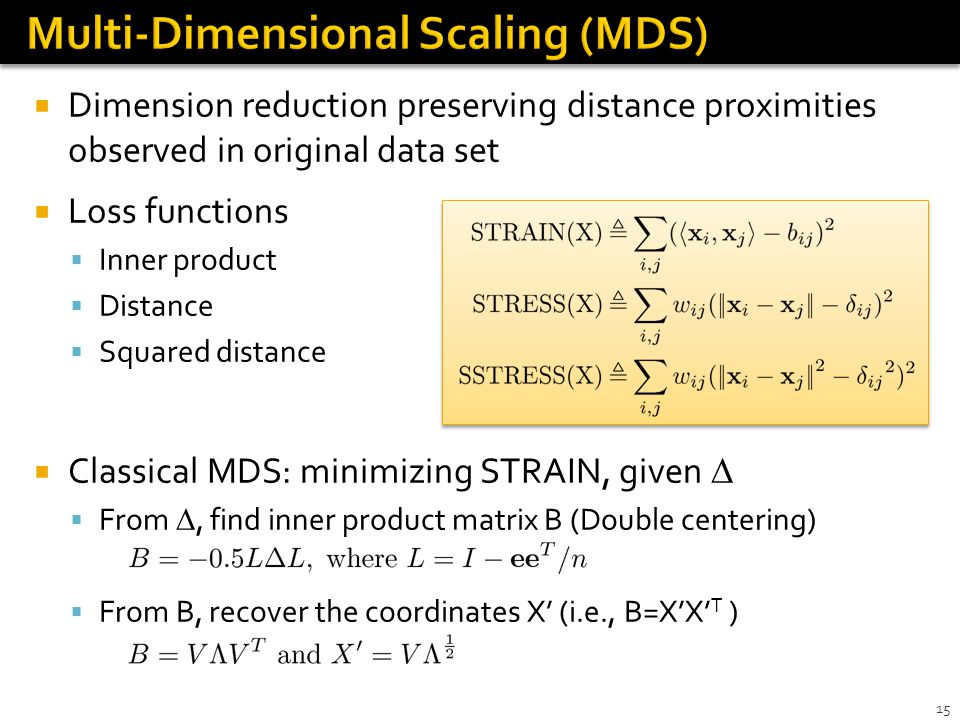 Multi-Dimensional Scaling (MDS)