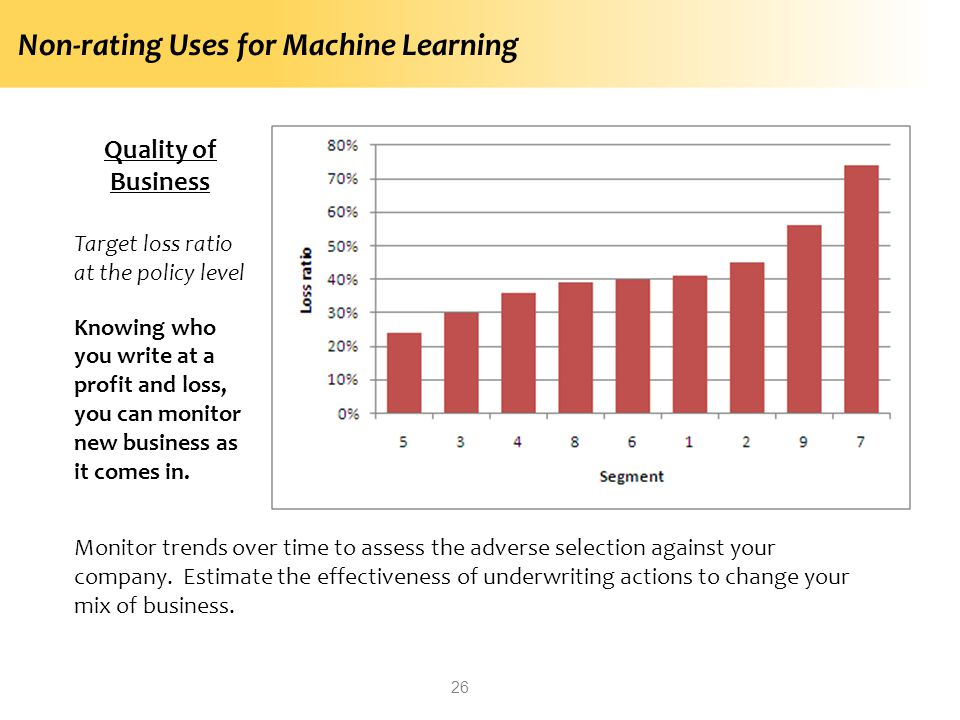 Non-rating Uses for Machine Learning