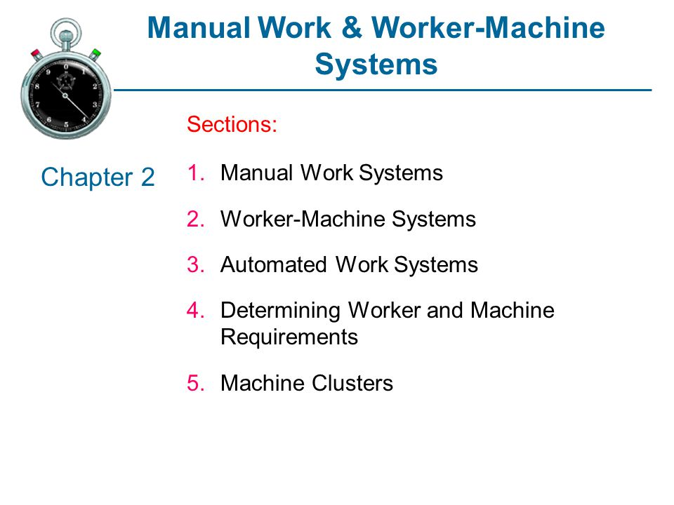 Manual Work & Worker-Machine Systems