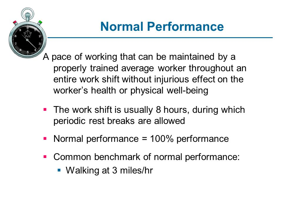 Normal Performance