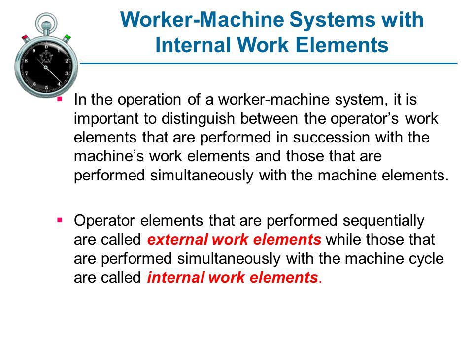 Worker-Machine Systems with Internal Work Elements