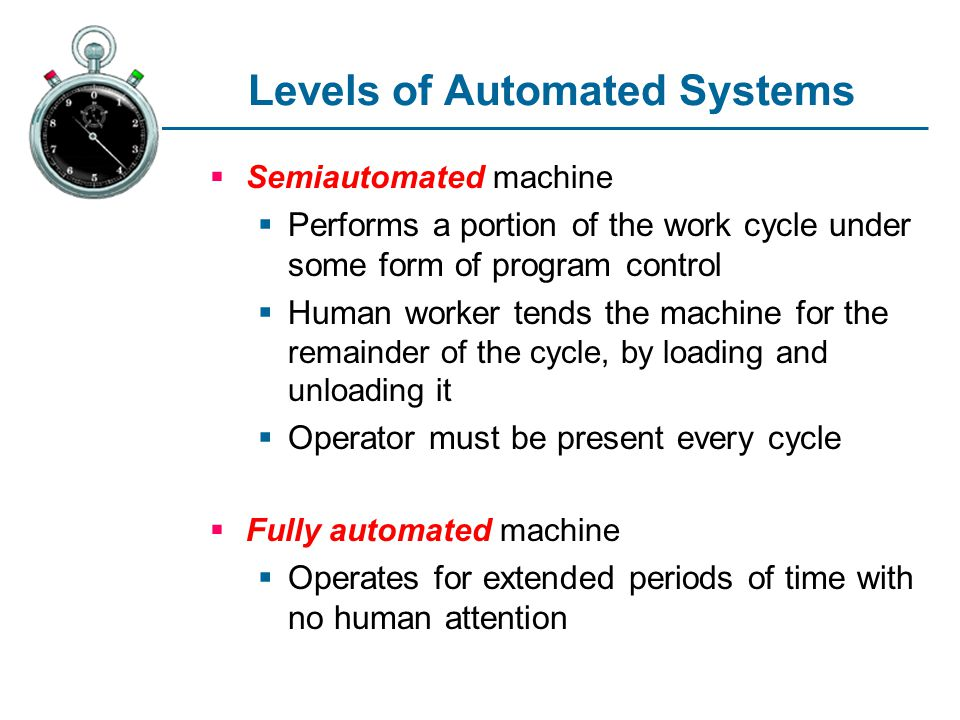 Levels of Automated Systems